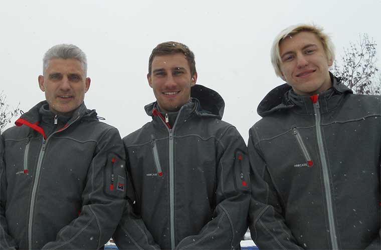 Clemens Müller, Sebastian Stöger und Hermann Kulagin